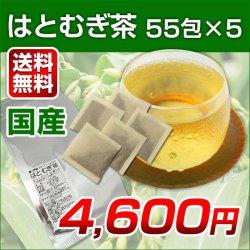 画像1: 【送料無料】富山県産 はとむぎ茶 55包×5袋